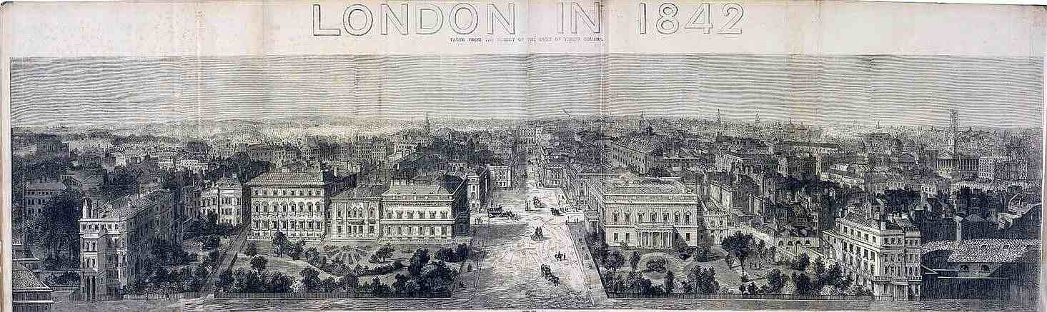 Antique Print 1843 LONDON Prince Albert Inspecting the Galvanic Telegraph